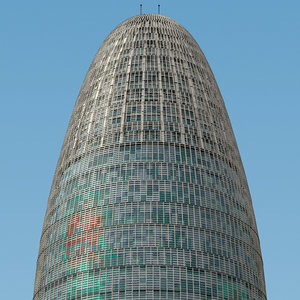 3d tower agbar skyscraper model