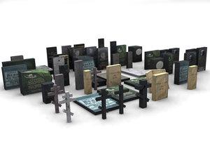 3d model gravestone