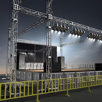 stage lights obj