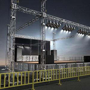 stage lights obj