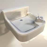 3dsmax water fountain retro 03