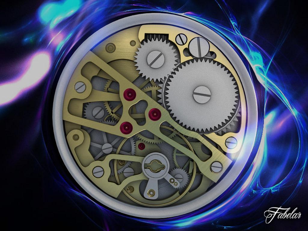 watch mechanism parts 3d 3ds