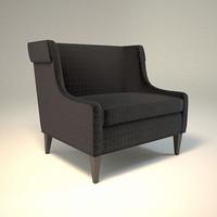 zachary lounge chair 3d model