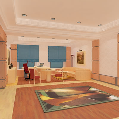 3ds max hall lounge interior