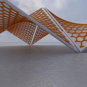 membrane structure building super 3d model