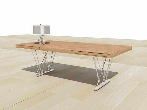 modern desk 3ds