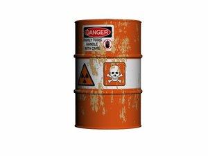barrel toxic 3d model