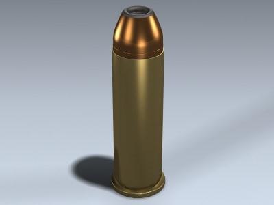3d model 44 magnum hallow point