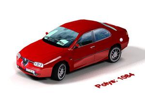 3d model of alfa romeo 156