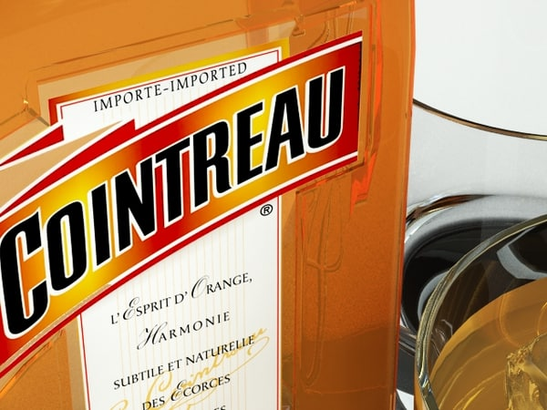 3d model cointreau liquor bottle