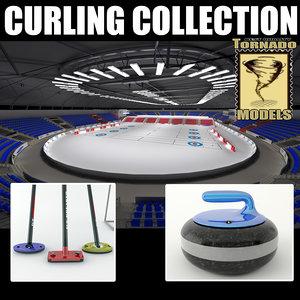 curling arena 3d max