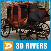 3d model of horse carriage
