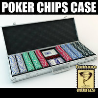 poker chips set 3d max