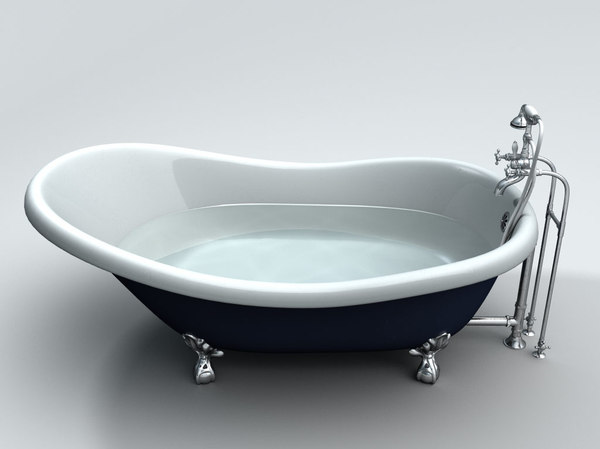3d slipper clawfoot bathtub