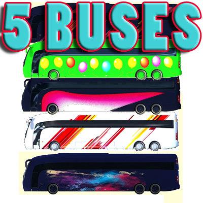 3d model bus 5