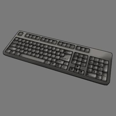 3d obj keyboard toon