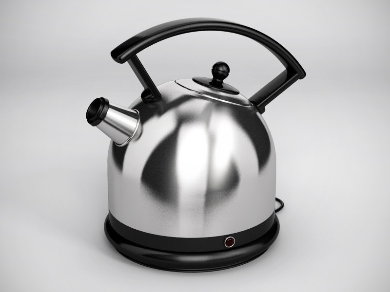 3d stainless steel kettle model