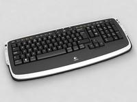 3d model logitech lx 710 keyboard