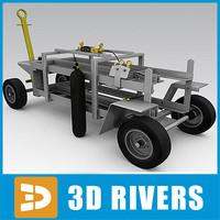 3d airport nitrogen cart model