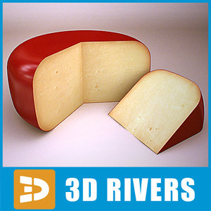 cheese piece food 3d model