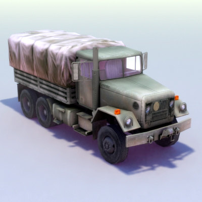 3d m35a2 army truck m35 model