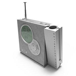 radio alarm clock - 3d model