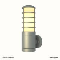 outdoor lighting fixture obj