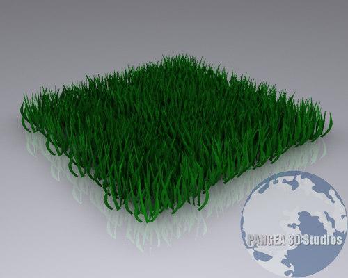3d grass modeled