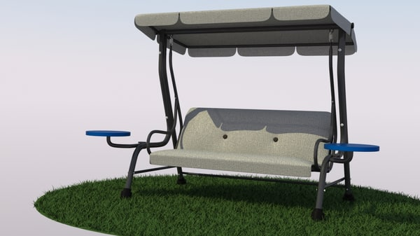 patio swing 3d model