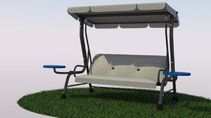 patio swing 3d model