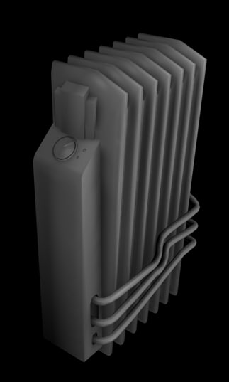 3d model radiator antique