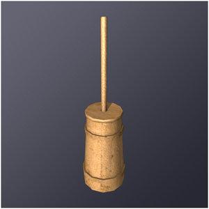 medieval butter churn 3d model