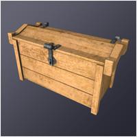 3d model medieval hero chest