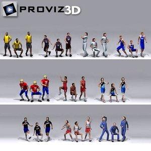 3d 30 people: sports people model