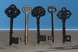 5 skeleton keys 3d 3ds