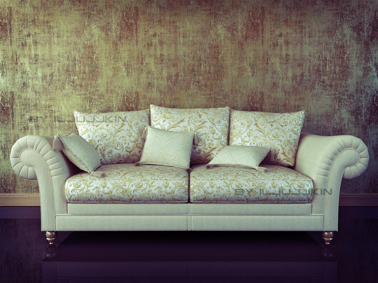 3d classic sofa model