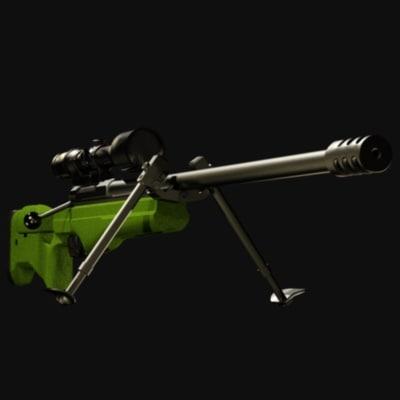 sako trg-42 sniper rifle 3d model