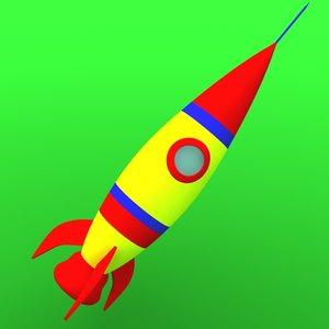 3d toy rocket