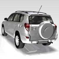 car toyota rav4 3d model
