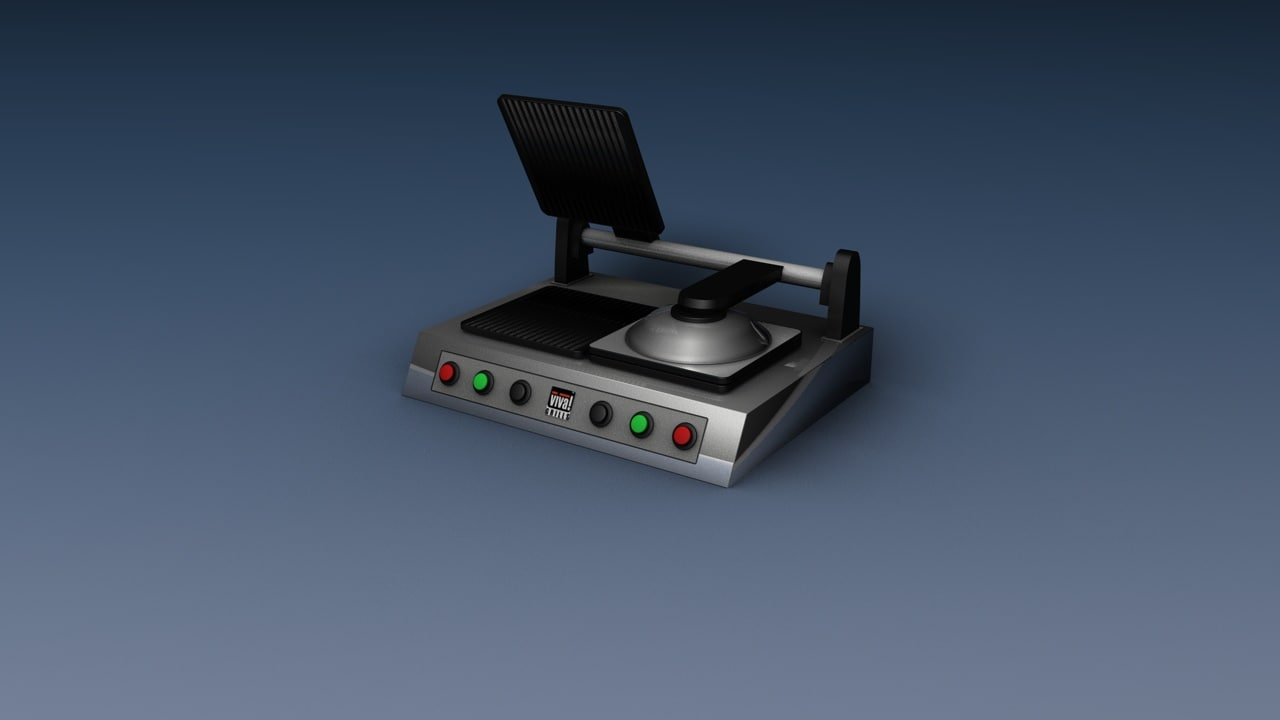 panini grill 3d model