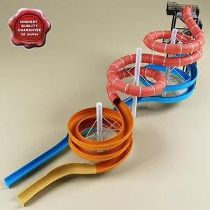 water slide v8 3d model