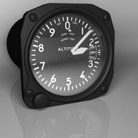 3d model aviation altimeter