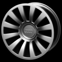 maya audi wheel rim a8