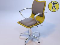 3d max chair hair