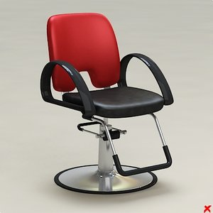 3d barber chair