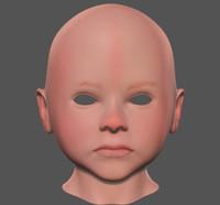 3d child head