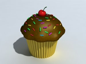 3d model sweet cupcake