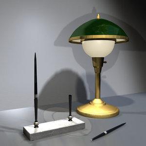 3d desk lamp pen set