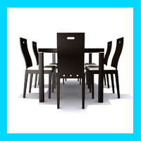 modern dining table 3d max