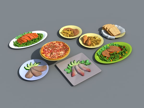 3ds max food pizza sushi